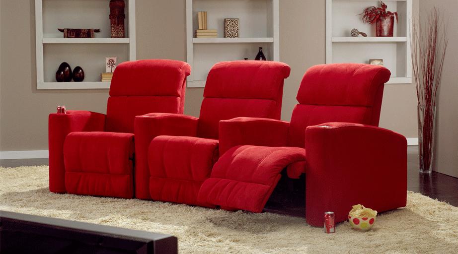 Sillones palliser la comodidad en tu sala de cine en casa - Sala de cine en casa ...